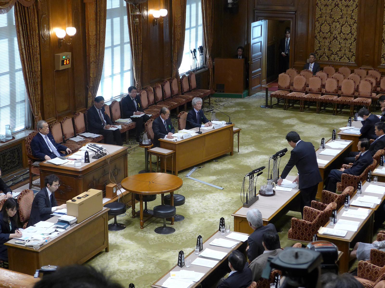 参議院予算委員会公聴会で質問